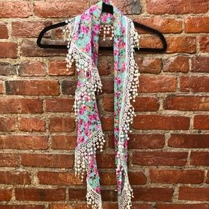 Floral Scarf from Burano, Italy